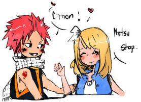 Nalu painted by CrossYuukiSan