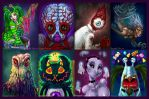 Spooky Speedpaints by Penanggalan