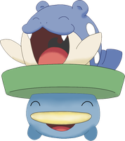 Spheal on Lotad's lily-pad by PKMN635-Hydreigon