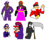 Black, Red, and Purple VG Stickers by Kiwii3364