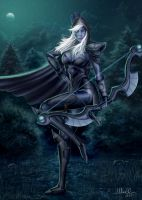 Traxex the Drow Ranger by Sciamano240