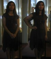 Me, in the brown house dress by Magic-Kristina-KW