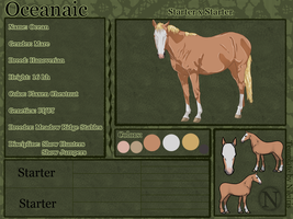 Oceaniac Reference Sheet--FOR SALE by catheetiem
