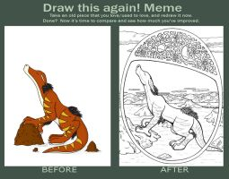 Before and After Meme - Draigarowl by Riverfox237