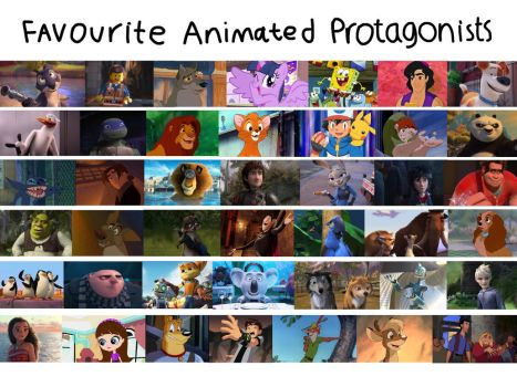 Favourite Animated Protagonists by JustSomePainter11