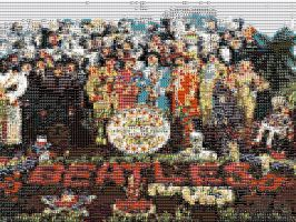 Sgt. Pepper's Lonely Hearts Club Band Mosaic by GmannyTheAnimator