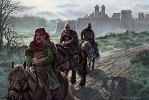 Warriors left the city by Andruth