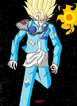 I Colored It Using MS Paint (Super Saiyan AplG7) by AplG7