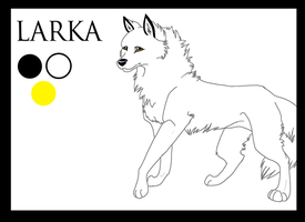 Ref Sheet: Larka by fenderbender368