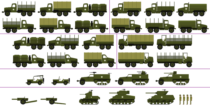 US WW2 Vehicles For JamesFan1991 by DanielArkansanEngine