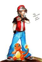 Red and Charmander Pokemon by guto-strife-1