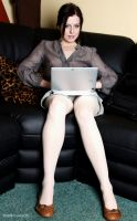 Barbara, working from home. by Real-Neil