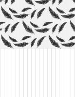 Paper Star Strips - Feathers (BLACK) by Bestesy