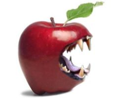Rawr I am apple by Mikey-Holz