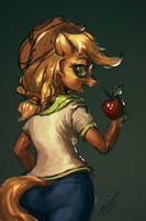 Applejack's red apples by AssasinMonkey