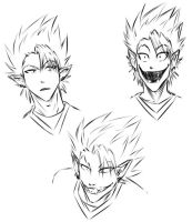 Hiruma quick sketches by Chiisai-Hana