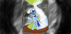 Trapped with the Hour Glass (Colgate Wallpaper) by Kittyhawkman