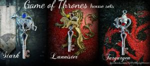 Game of Thrones Set by ArtByStarlaMoore
