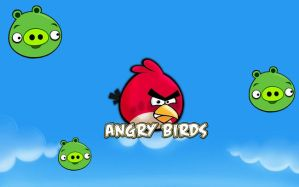 Angry Birds Wallpaper by zap1pow2boom3