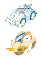 Dog and Rabbit for Pet Racers by 043152F