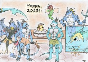 Collab: Happy 2013! by Spere94