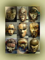 art 2166 - African Masks by oboudiart