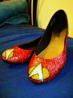 TNG Glitter Shoes by BenaeQuee