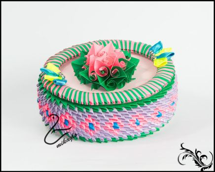 mikaglo Flower Box Origami 3d by Majka16g
