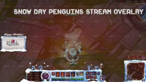Snow Day Penguins Stream Overlay by Kireaki