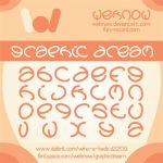 graphic dream font by weknow by weknow