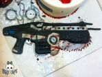 Lancer Closeup from Gears of War Cake by Corpse-Queen