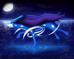 Suicune - Serene Grace by RiceGnat