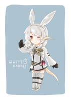 Commission -White Rabbit by Fenrixion