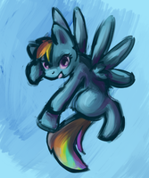 Sketchy Rainbow Dash by first-blush
