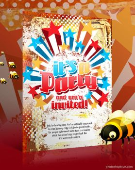 Greeting, Party Invite by photoshophive