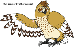 My Guardian Owl Oc  -NAMES?- by PI0SON