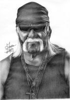 Immortal Hulk Hogan Pencil Drawing by Chirantha