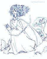 Merida line art by DottyDrama