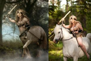 Ylva before and after by CindysArt