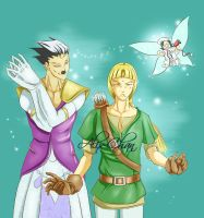 Link and...Zelda?? by Alix-chan