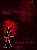 Flaky in version Black Rock Shooter by Marythedark