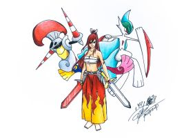 Fairy Tail x Pokemon (Erza Scarlet)
