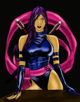 Psylocke X-Men by goloka
