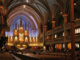 Notre Dame - Montreal by TheBrassGlass