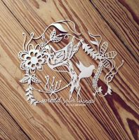 hummingbird papercut by KiaSuee