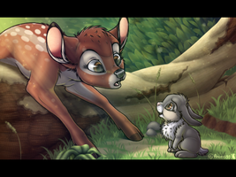 Bambi Is Stuck by Arceus55