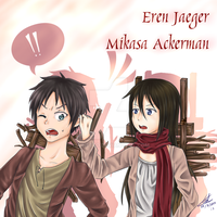 Secret : Shingeki no kyojin :Mikasa x Eren by HaineTed