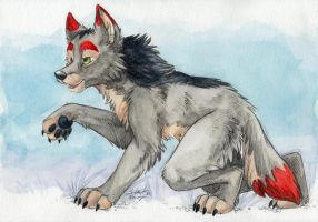 Watercolor Wolfish by SilentRavyn