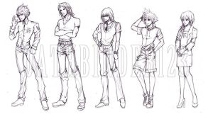 kh FF game conceptual character sketch by OathBinder123
