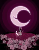 Beneath the laughing moon by Crimson-diabloS